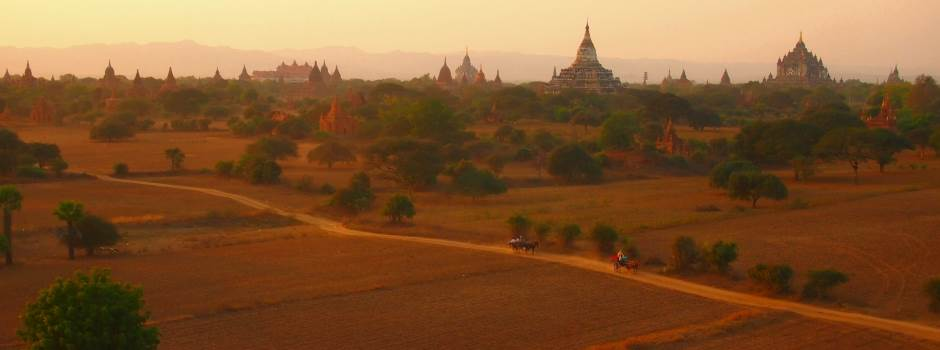 goi reisen Bagan Sunset